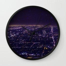Stars Over Los Angeles Wall Clock