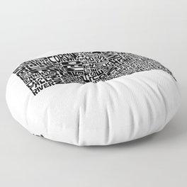 Typographic South Dakota Floor Pillow