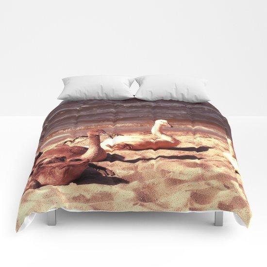 Sleeping swans Comforters
