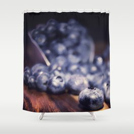 Spilled Blueberries Shower Curtain