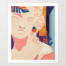 Greek obsession-new generation No.1. Art Print