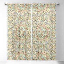 Rainbow Candy Trinkets Sheer Curtain