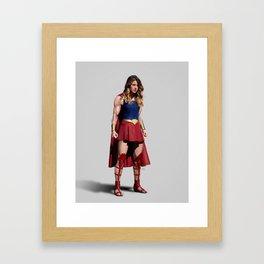 to be a true hero Framed Art Print