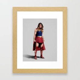 to be a true hero Framed Art Print