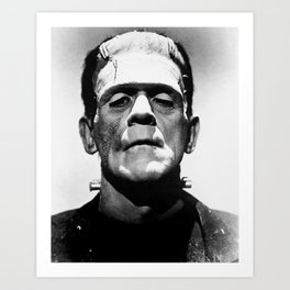 Frankenstein 1933 classic icon image, flawless, timeless horror movie classic Art Print