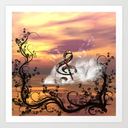 Colorful clef Art Print