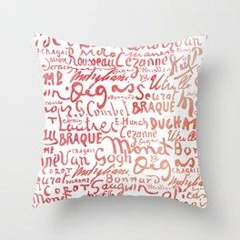 Signatures Red Throw Pillow