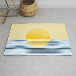 Minimal Summer Sunset Rug