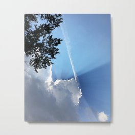 Eclipsed By A Cloud Metal Print