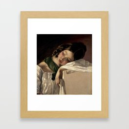 Friedrich von Amerling - Jeune fille assoupie (1834) Framed Art Print