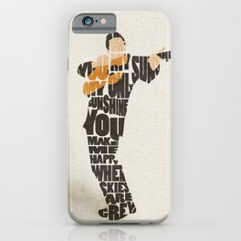 Typography Art of  The Man in Black Johnny Cash iPhone Case