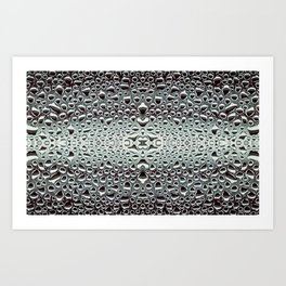 Abstract Water Drops in Black Art Print