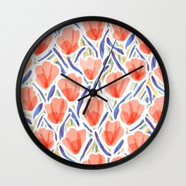 Sanguine Sway Persimmon Wall Clock