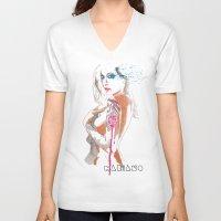 gypsy V-neck T-shirts featuring Gypsy by Mariano Daniel