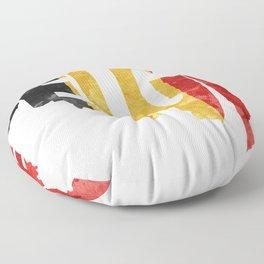 Belgium (België) Typographic World Map / Belgium Typograpy Flag Map Art Floor Pillow