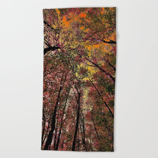 Colored forest Beach Towel