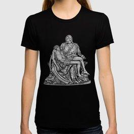 Pieta - from my hand etching T-shirt