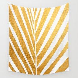 Golden leaf VIII Wall Tapestry