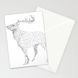 Deer dots Stationery Cards