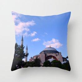 An Afternoon in Hagia Sophia (Aya Sofia, Istanbul) Throw Pillow