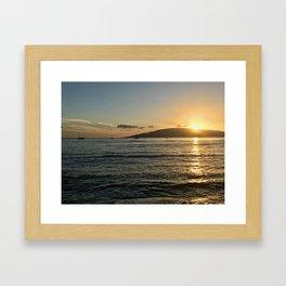 Lahina Sunset Framed Art Print