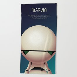 Marvin the Android Beach Towel