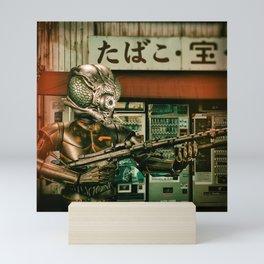 Insect Man Causes Havoc Mini Art Print