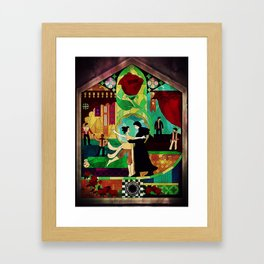 Stained glass Reylo Framed Art Print