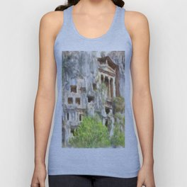 Fethiye Lycian Tombs Watercolor Unisex Tank Top