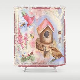 Foxglove Shower Curtain