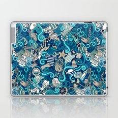 Boho Sea & Beach Pattern Laptop & iPad Skin