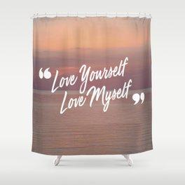 BTS: Love yourself, love myself Shower Curtain