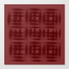 Red Tech-ture Pattern Canvas Print