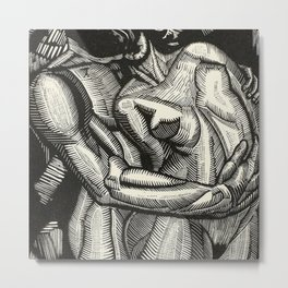 Embrace, Engraving from Song of Solomon 1929 by Cecil Buller Metal Print