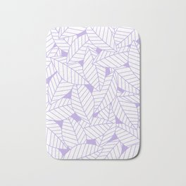 Leaves in Lavender Bath Mat