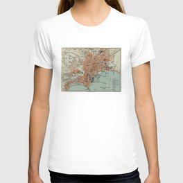 Vintage Map of Naples Italy (1911) T-shirt