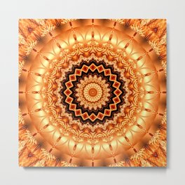 Mandala Luxury Metal Print