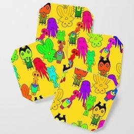 Yellow Clown Coaster