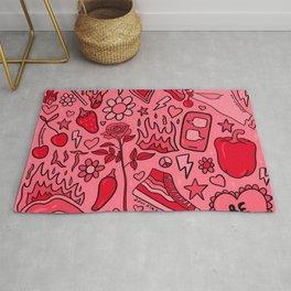 Red Print Rug