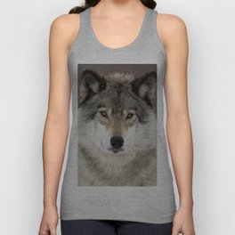 Winter Wolf Unisex Tank Top