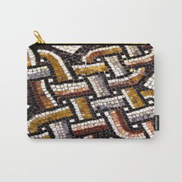 Roman Geometric Squares Tile Mosaic Pattern Carry-All Pouch
