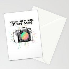 If I Cant Take My Camera Funny Camera Hobby Photographer Retro Vintage Camera Photo Shoot Stationery Cards