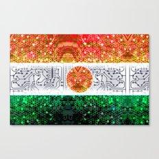 circuit board niger (flag) Canvas Print