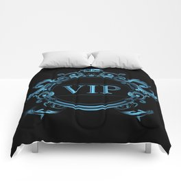 VIP in Blue and Black Comforters