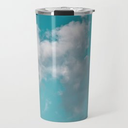 Floating cotton candy with blue green Travel Mug