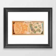 World of Wine Map Framed Art Print