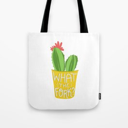what the fork? cactus (The Good Place) Tote Bag