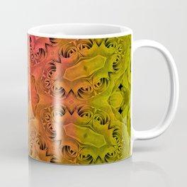 Abstract kaleidoscope of roses Coffee Mug