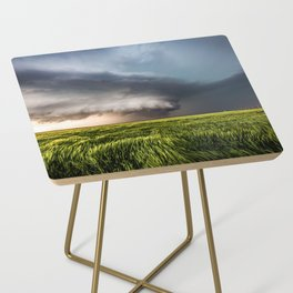 Leoti's Masterpiece - Incredible Storm in Western Kansas Side Table