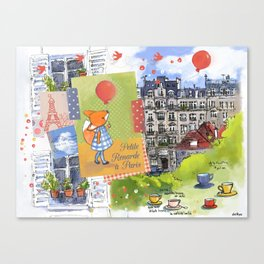 Petite Renarde à Paris Canvas Print